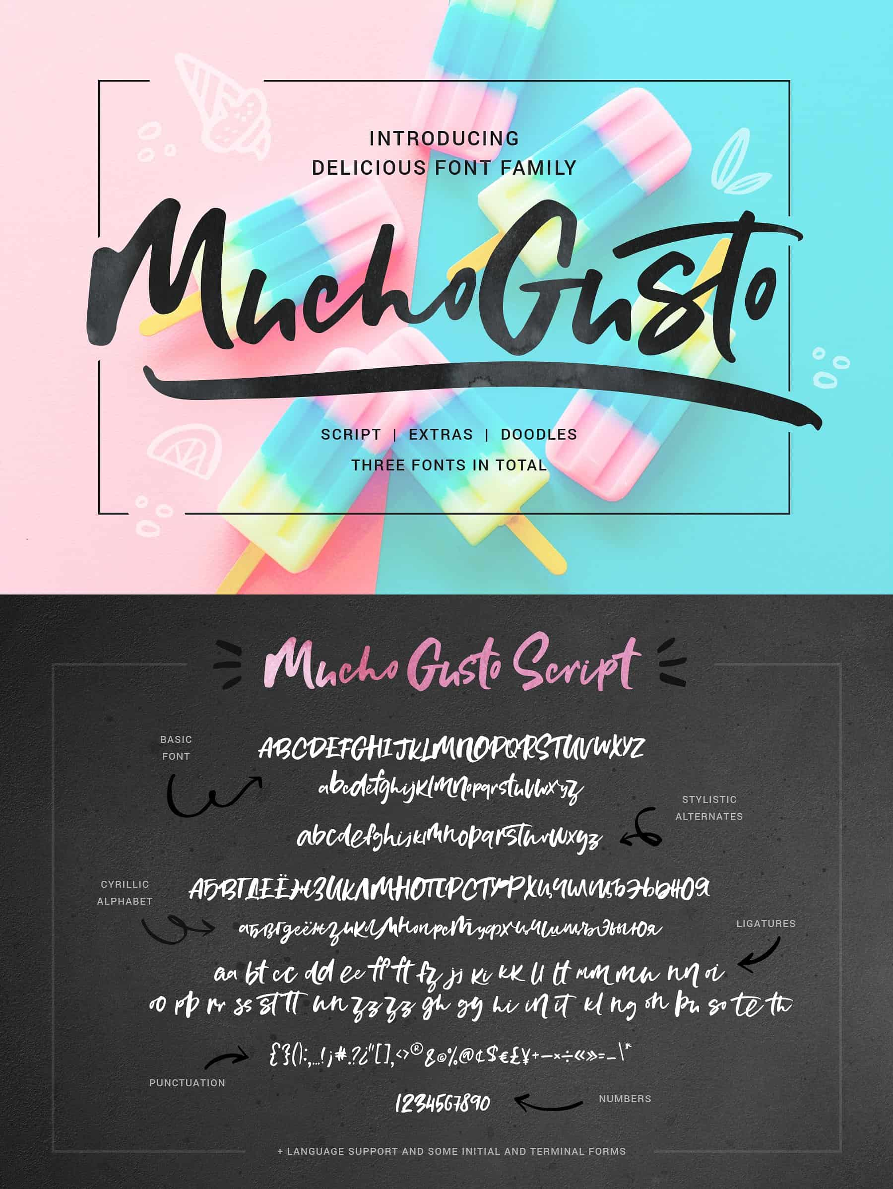 Mucho Gusto Family Font Free Download