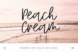 Peach Cream Latin & Cyrillic Font Free Download