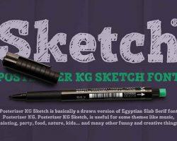 Posterizer KG Sketch Font Free Download