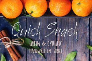 Quick Snack Script Latin & Cyrillic Font Free Download