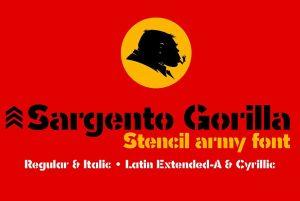 Sargento Gorila Font Free Download