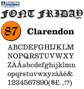Clarendon [1845 – Benjamin Fox] Font Free Download