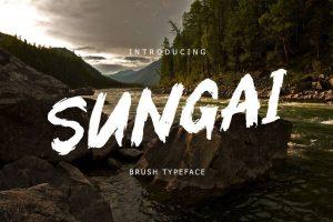 Sungai Brush Font Free Download