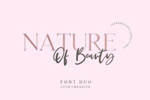 Nature of Beauty Font Free Download