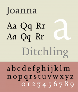 Joanna [1930 – Eric Gill] Font Free Download