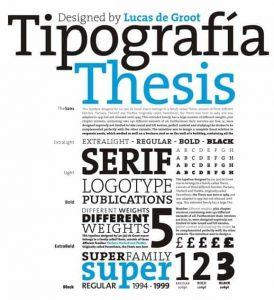 Thesis [1994 – Lucas de Groot] Font Free Download