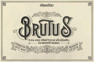 Brutus Type Font Free Download