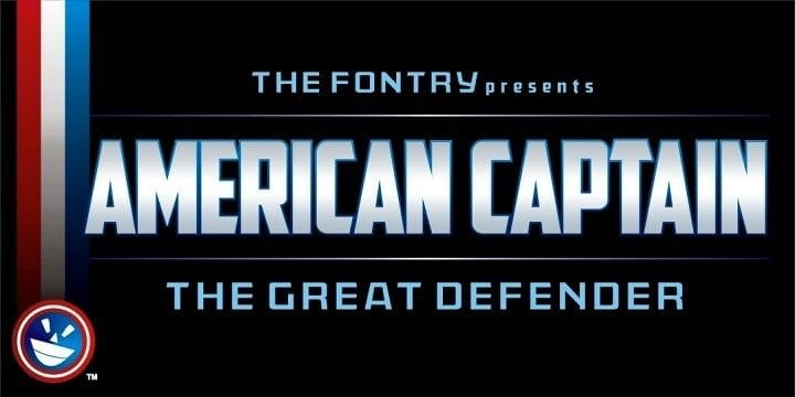 Captain America Font Free Download
