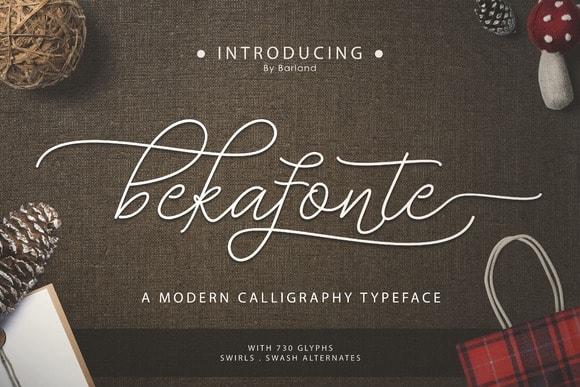 Bekafonte Typeface Font Free Download