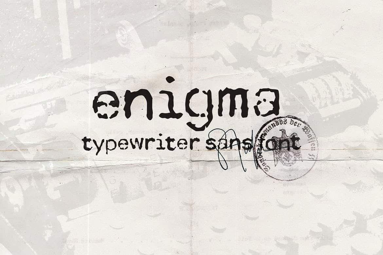 Enigma Typewriter Sans Font Free Download