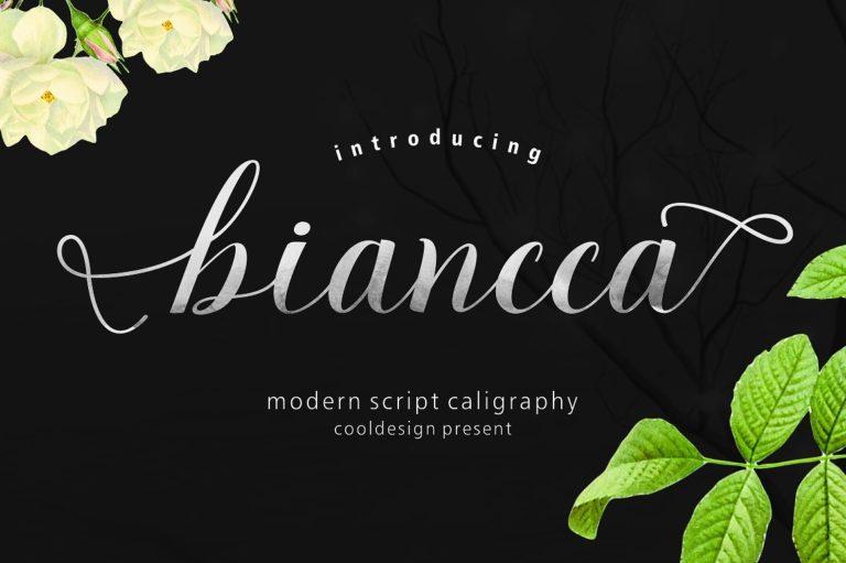 Biancca script Font Free Download