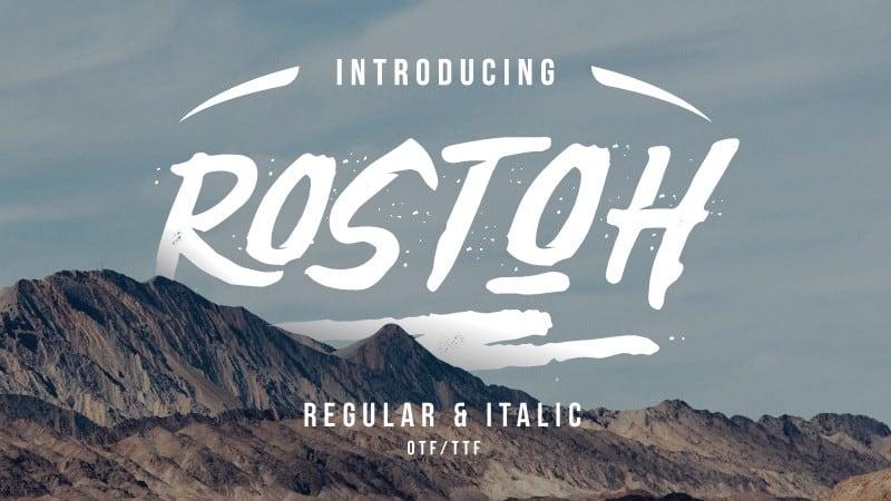 Rostoh Font Free Download