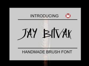 Jay Bitvak Font Free Download