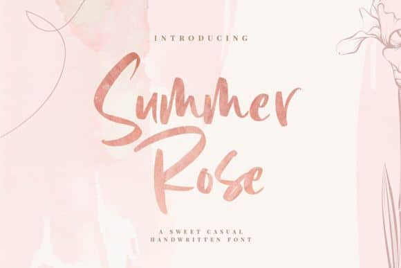 Summer Rose Font Free Download