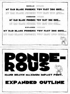 Ponderous Expanded Outline Font Free Download