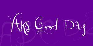 VTKS Good Day Font Free Download