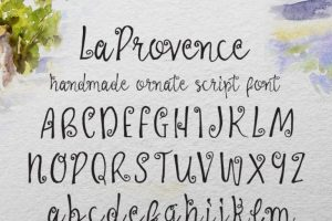 La Provence Typeface Font Free Download