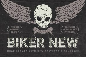 Biker New Font Free Download