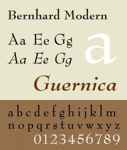 Bernhard Modern [1937 – Lucian Bernhard] Font Free Download
