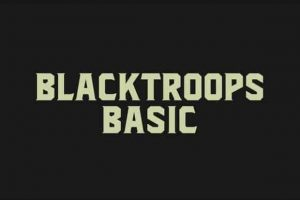 Blacktroops Basic Font Free Download
