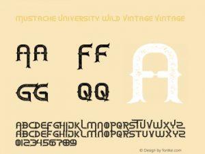 Mustache University Font Free Download