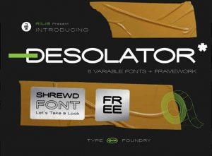 Desolator Font Free Download