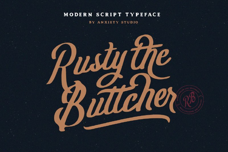 Rusty The Buttcher Font Free Download