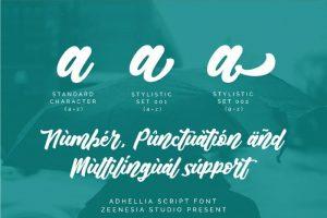 Adhellia Font Free Download