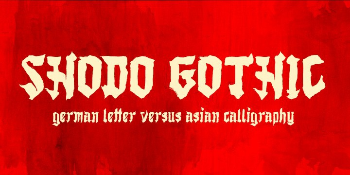 Shodo Gothic Font Free Download