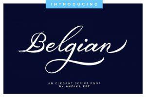 Belgian Font Free Download By FontMesa