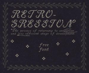 Retrogression Font Free Download