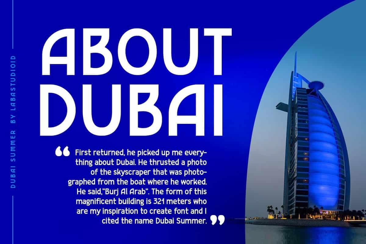 Dubai Summer Font Free Download
