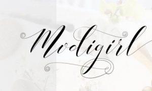 Modigirl Script Font Free Download