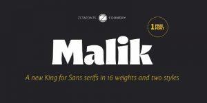 Malik Font Free Download