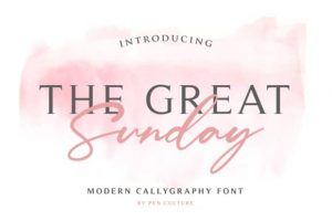 The Great Sunday Font Free Download