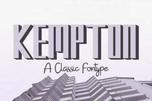 Kempton Font Free Download