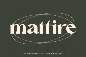 Mattire Font Free Download
