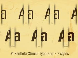 PANFLETA STENCIL Font Free Download