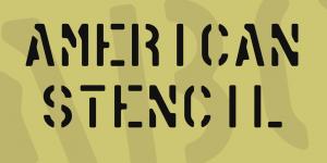 American Stencil Font Free Download