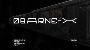 OBARNE-X Font Free Download