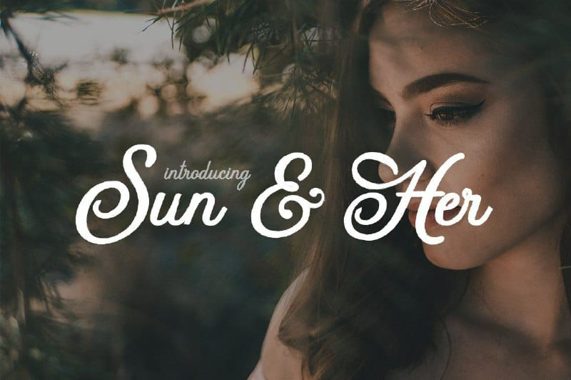 Sun&Her Font Free Download