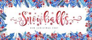 Snowballs Font Free Download