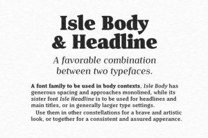 Isle Headline Font Free Download