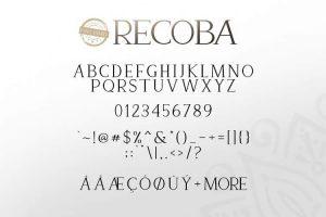 Recoba Font Free Download