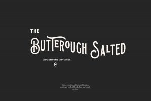 Salted Monthoers Font Free Download