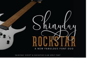 Shinyday & ROCKSTAR Font Free Download